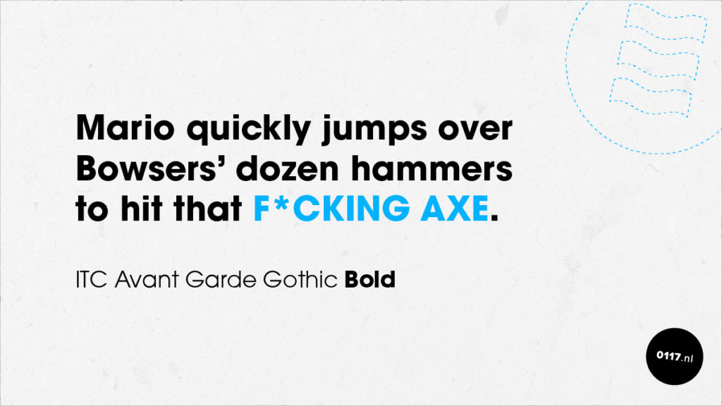 Font 04: ITC Avant Garde Gothic