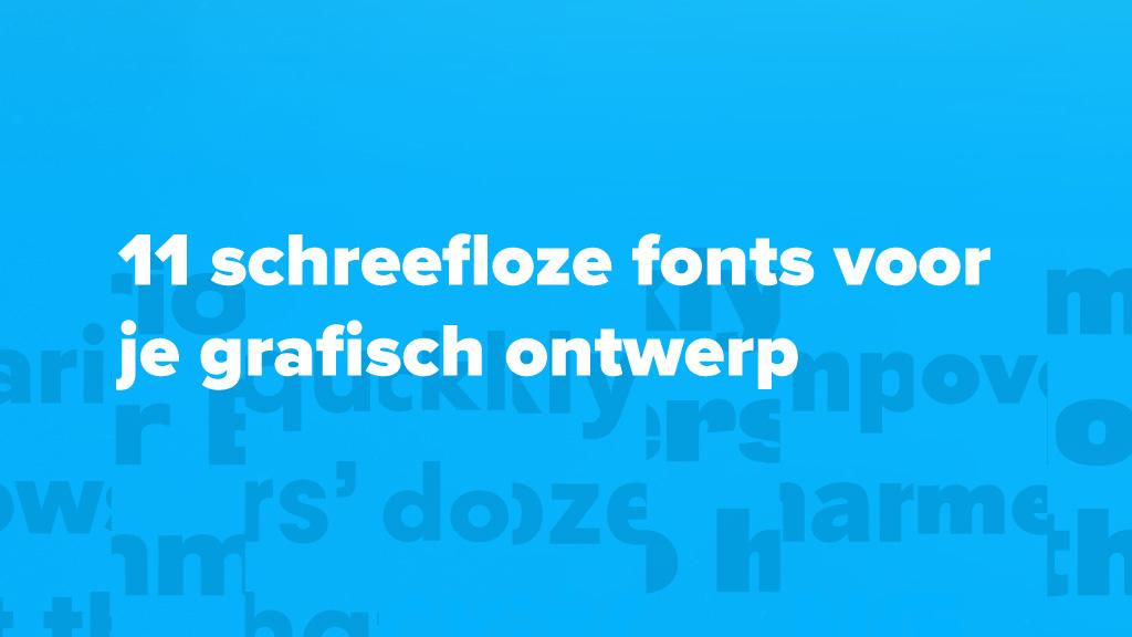 11 schreefloze fonts voor je grafisch ontwerp