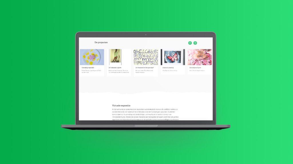 Kunst op je beeldscherm. Webdesign voor een virtuele expositie.