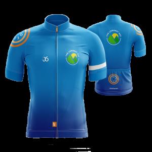 Grafisch ontwerp van fiets t-shirt / Jersey voor fietstocht The Longest Day 2020