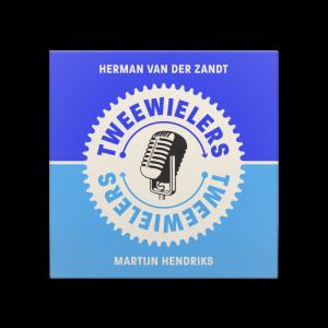 Grafisch ontwerp voor de cover van de Tweewielers podcast