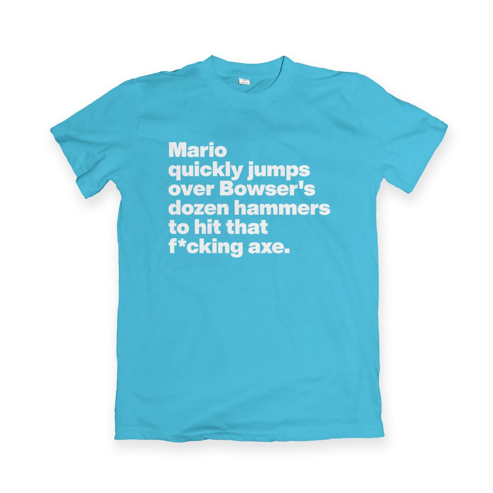 T-shirt met Super Mario pangram