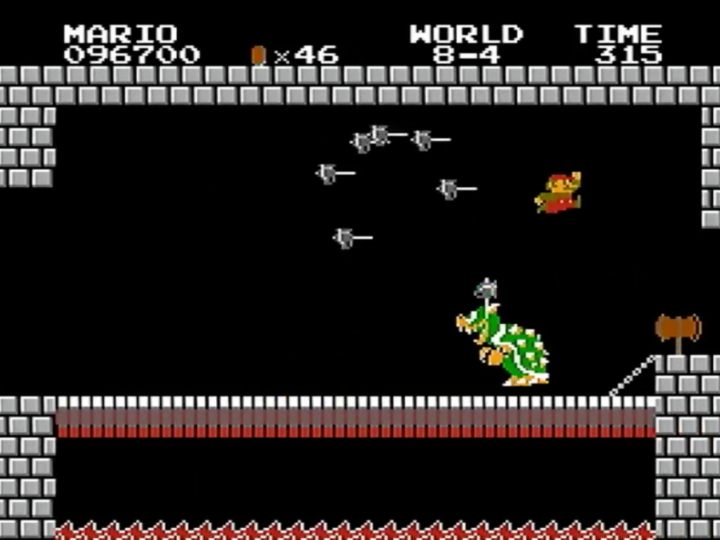 Super Mario Bros 1 - 8-4 - Screenshot