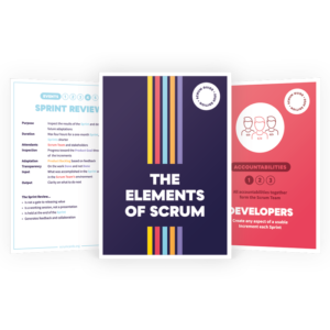 Enkele ScrumCards van kaartspel The Elements Of Scrum